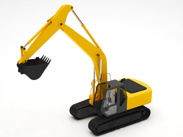 Excavator - 3DOcean Item for Sale