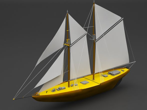 Sailing boat - 3DOcean Item for Sale