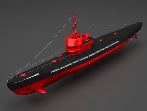 submarine - 3DOcean Item for Sale