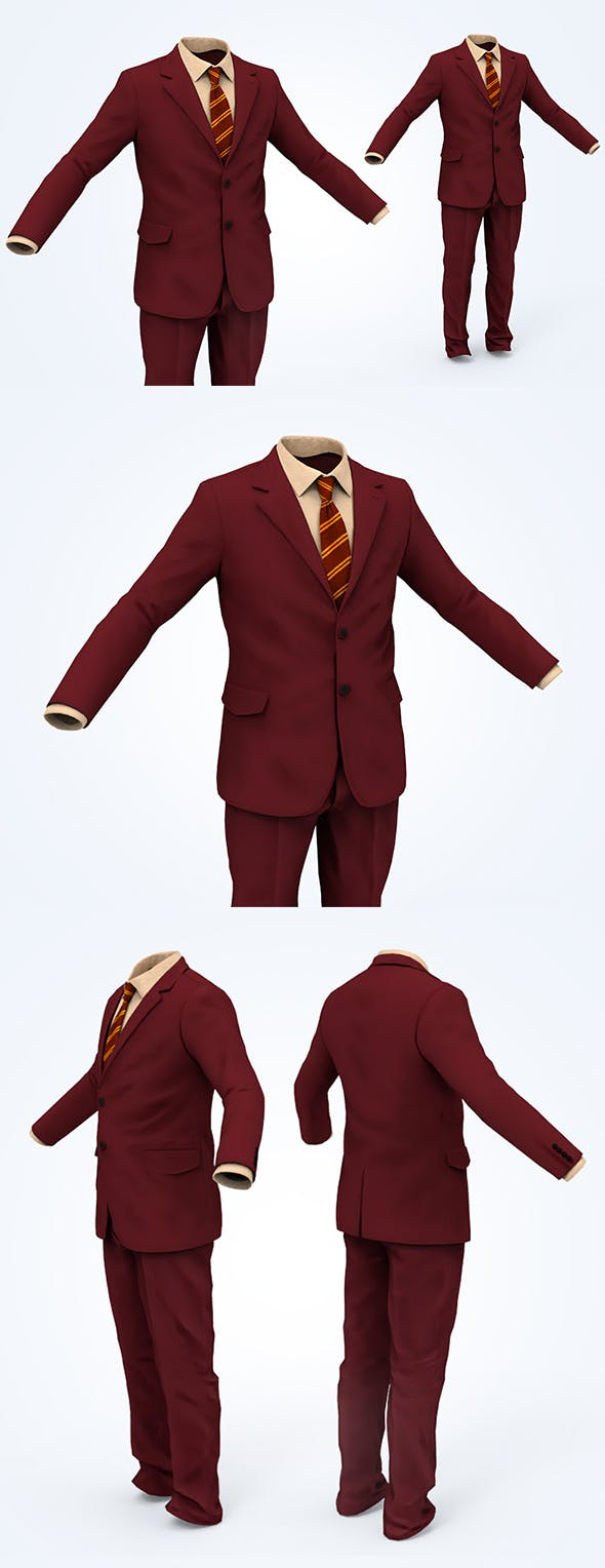 Business Suit Man - 3DOcean Item for Sale