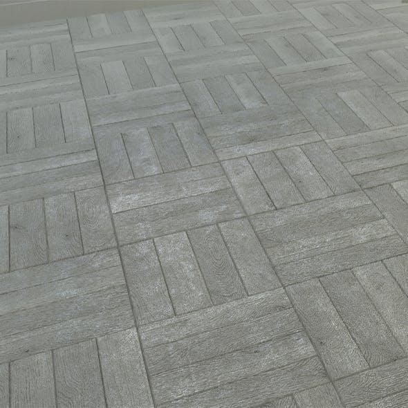 Old Grey Parquet Floor