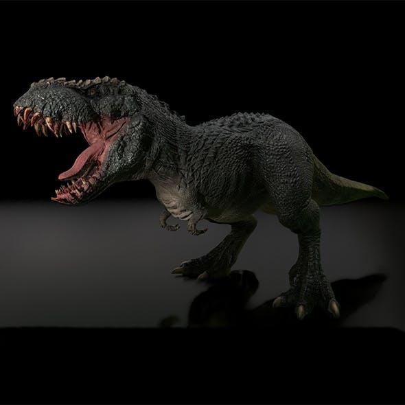 V Rex Aggressive Dinosaur Game Render Model - 3DOcean Item for Sale