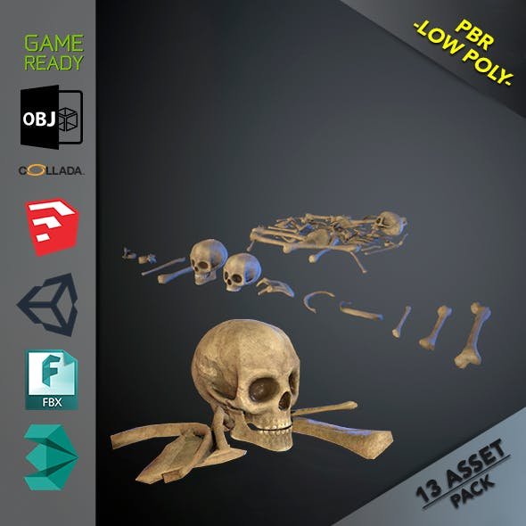 Skulls1 Normal Bones - 3DOcean Item for Sale