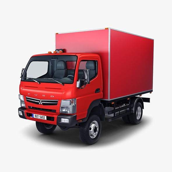 Mitsubishi Fuso Canter 4x4 Box - 3DOcean Item for Sale