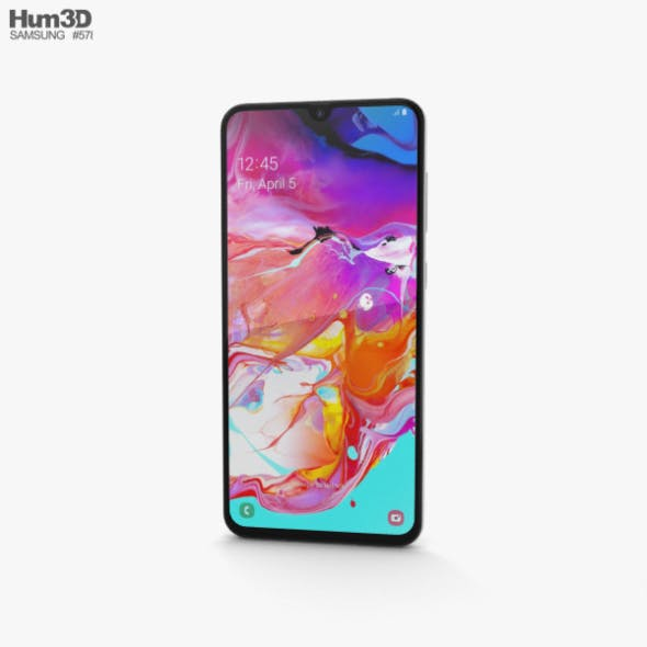 Samsung Galaxy A70 White - 3DOcean Item for Sale