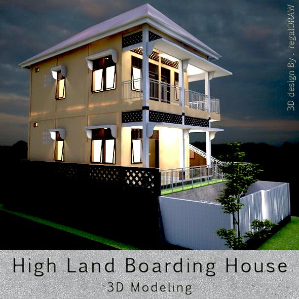 High Land Boarding House 3D Modeling