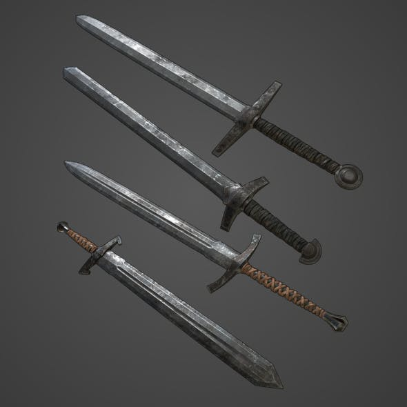 Basic Swords Collection - 3DOcean Item for Sale