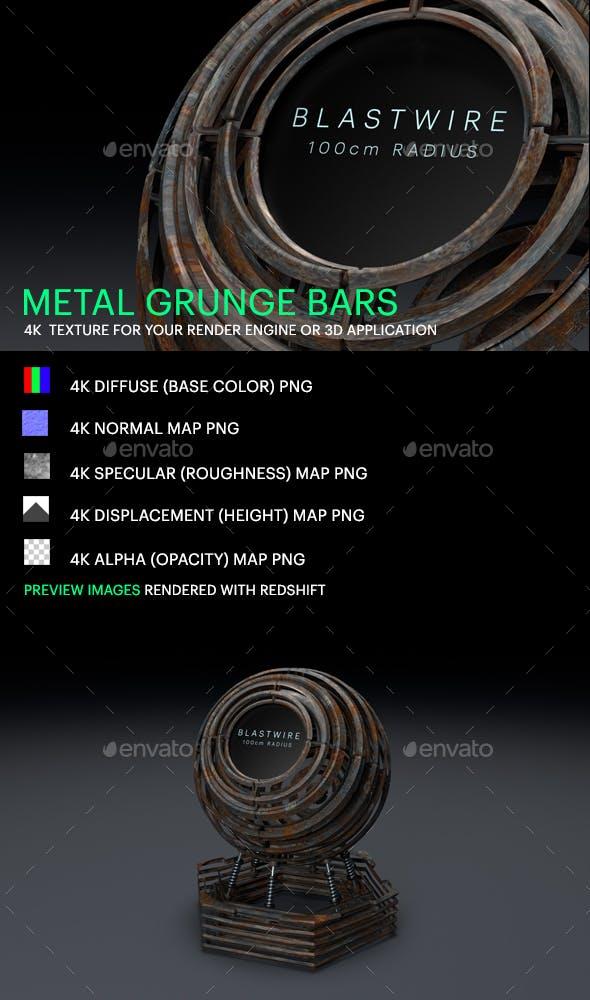 Metal Grunge Bars - 3DOcean Item for Sale
