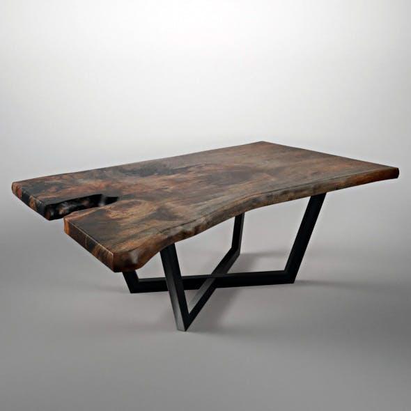 Wood Slab Table - 3DOcean Item for Sale