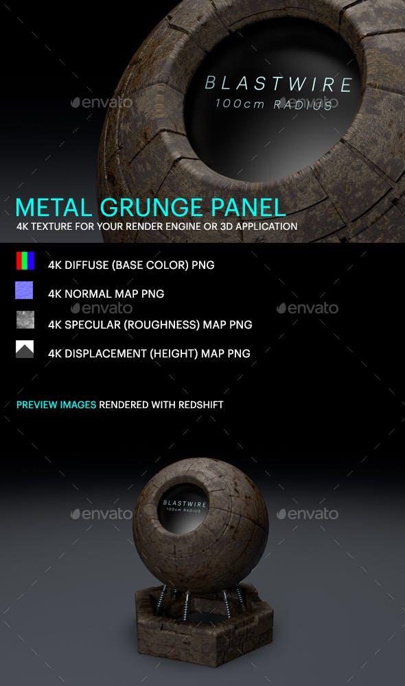 Metal Grunge Panel - 3DOcean Item for Sale
