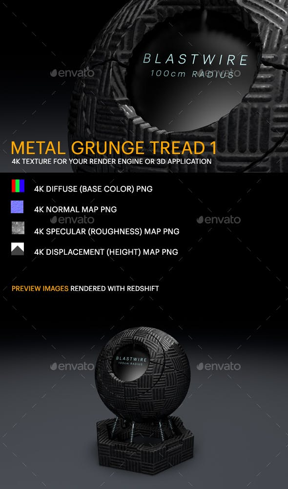 Metal Grunge Tread 1 - 3DOcean Item for Sale