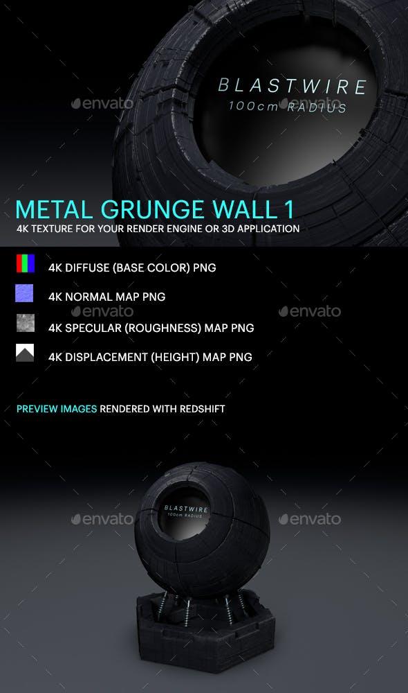 Metal Grunge Wall 1 - 3DOcean Item for Sale