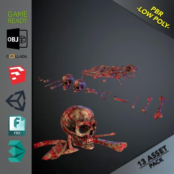 Skulls1 Meat Bones - 3DOcean Item for Sale
