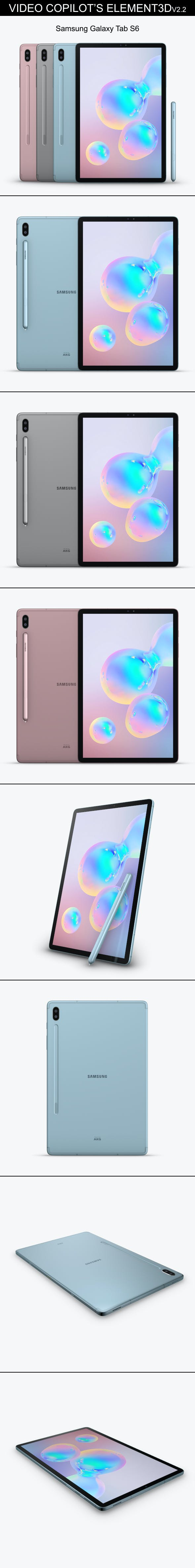 Element3D - Samsung Galaxy Tab S6 - 3DOcean Item for Sale