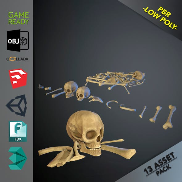 Skulls1 Stylized Bones - 3DOcean Item for Sale