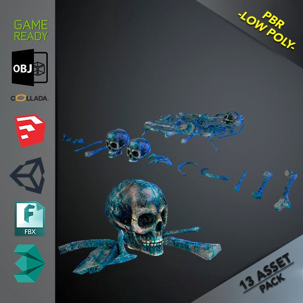 Skulls1 Meat Alien Bones - 3DOcean Item for Sale