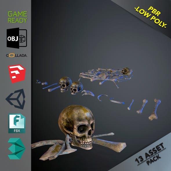 Skulls1 Infected Alien Bones - 3DOcean Item for Sale