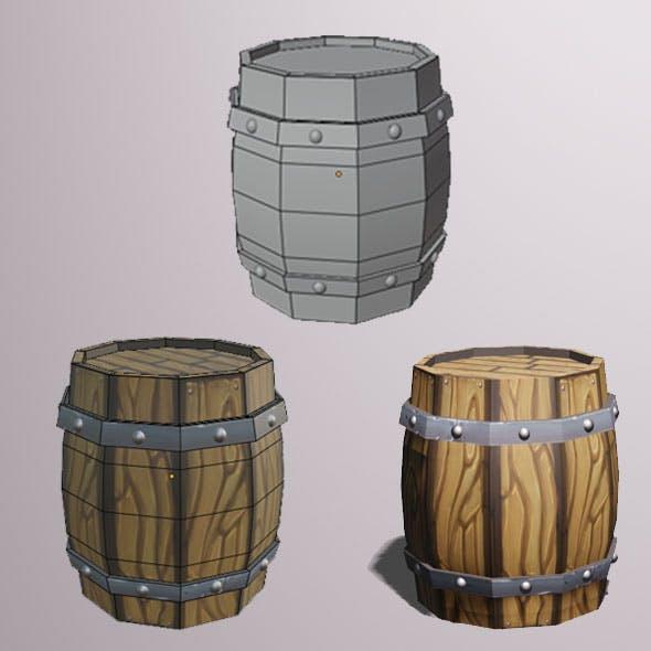 3D model - Barrel Low Poly - 3DOcean Item for Sale
