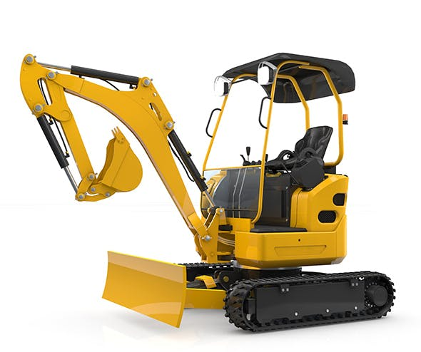 Mini Excavator - 3DOcean Item for Sale