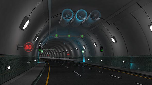 Tunnel Highway - 3DOcean Item for Sale