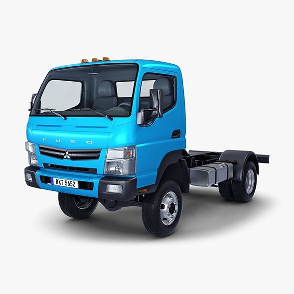 Mitsubishi Fuso Canter 4x4 Chassis Truck - 3DOcean Item for Sale