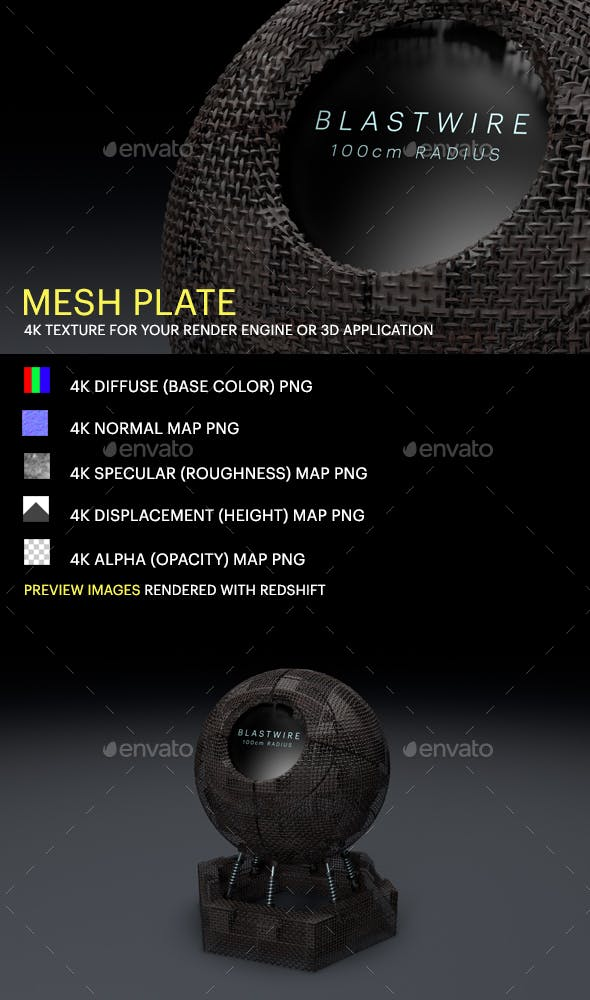 Mesh Plate - 3DOcean Item for Sale
