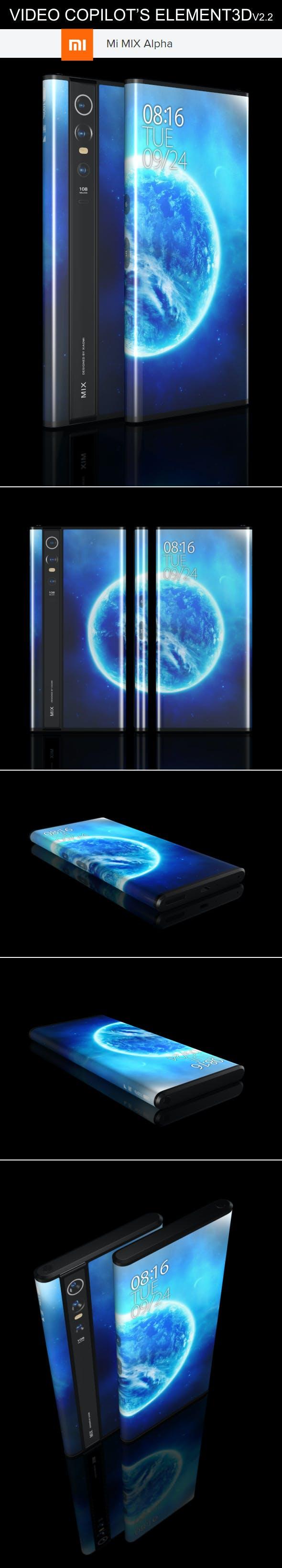 Element3D - Xiaomi Mi Mix Alpha - 3DOcean Item for Sale