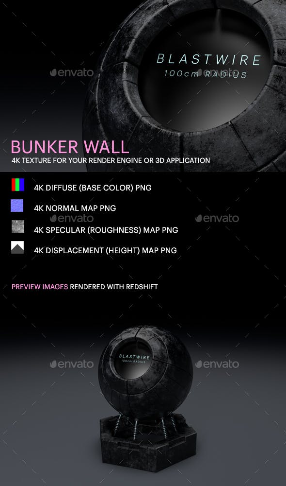 Bunker Wall - 3DOcean Item for Sale
