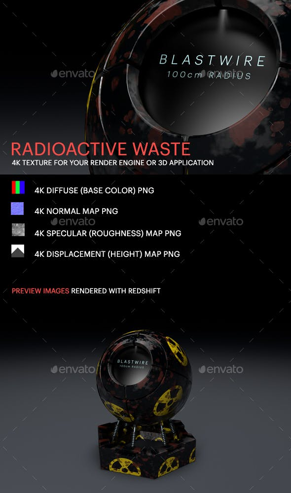 Radioactive Waste - 3DOcean Item for Sale