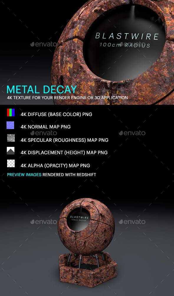 Metal Decay - 3DOcean Item for Sale