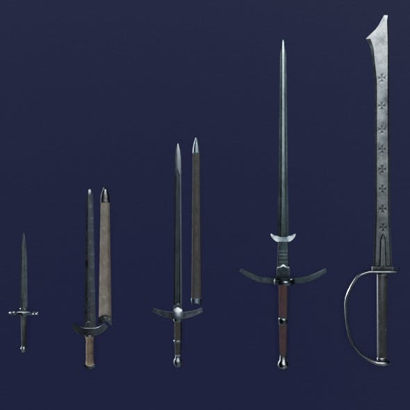 Steel Arms Pack - 3DOcean Item for Sale