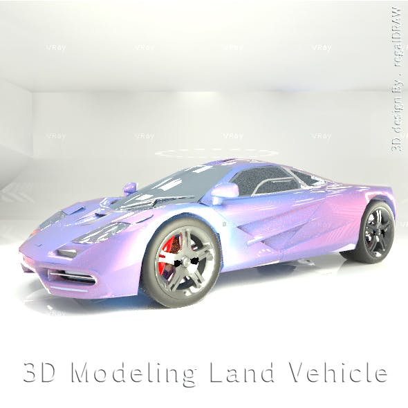 Land Vehicle 3D Modeling
