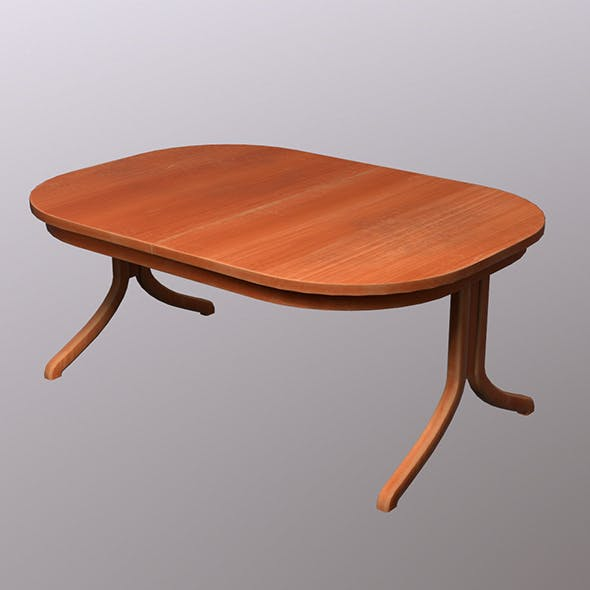 Oval Table - 3DOcean Item for Sale