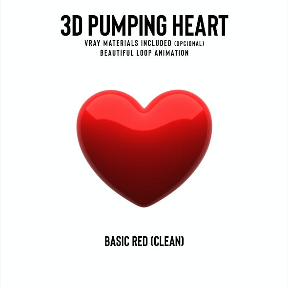 Pumping Heart 3D Model (Loop)