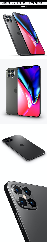 Element3D - iPhone 12 - 3DOcean Item for Sale