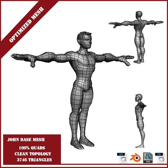 John Base Mesh - 3DOcean Item for Sale