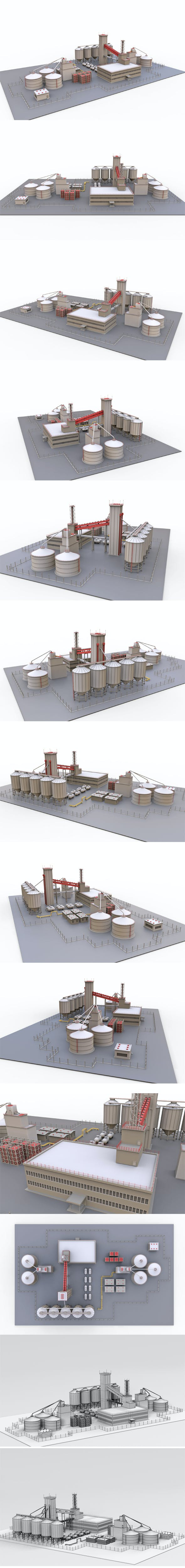 Industrial plant - 3DOcean Item for Sale