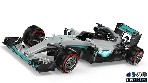 Mercedes W07 - 3DOcean Item for Sale