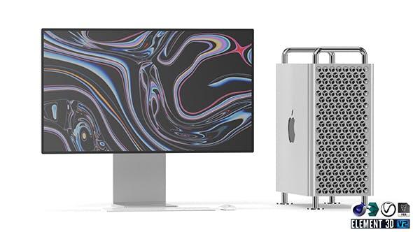 Apple Mac Pro Set - Element 3D - 3DOcean Item for Sale