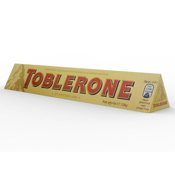 Toblerone Chocolate Bar - 3DOcean Item for Sale