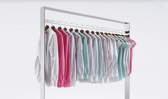 Racks with wardrobe (shirts) - 3DOcean Item for Sale