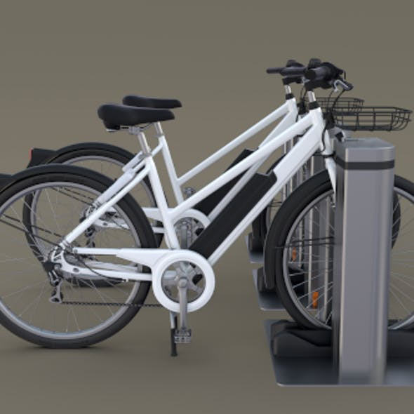 Electric Bicycle and Station