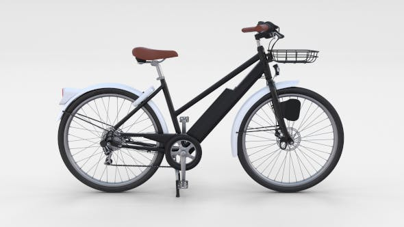 Electric Bicycle Black - 3DOcean Item for Sale