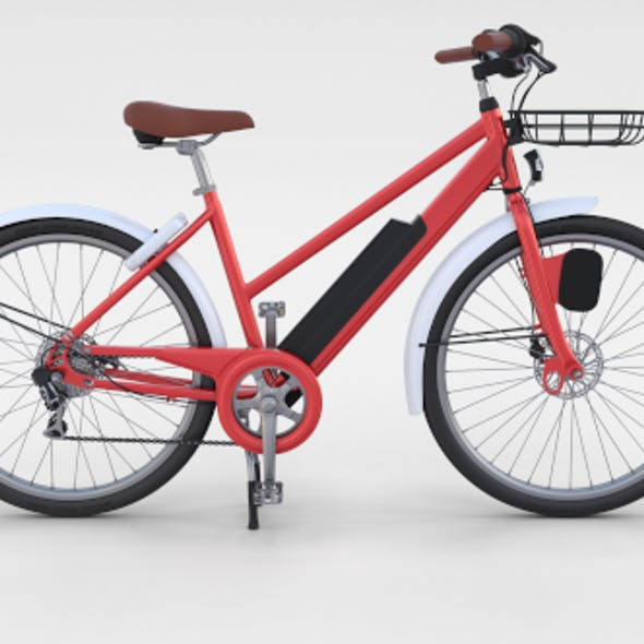 Electric Bicycle Red