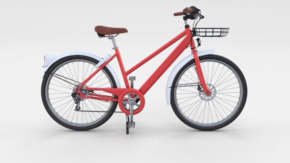Generic Bicycle Red - 3DOcean Item for Sale