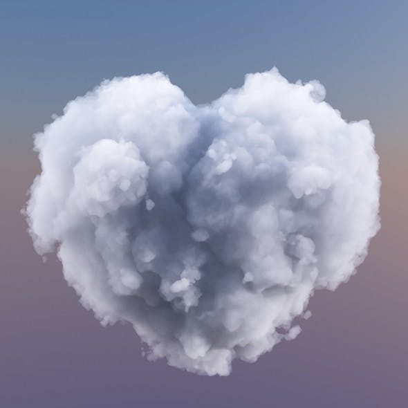 Cloud Love Heart - 3DOcean Item for Sale
