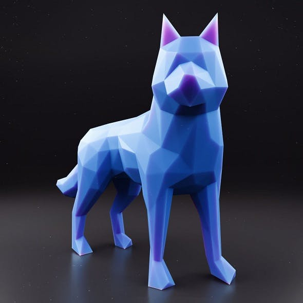 Husky Low Poly 1 - 3DOcean Item for Sale