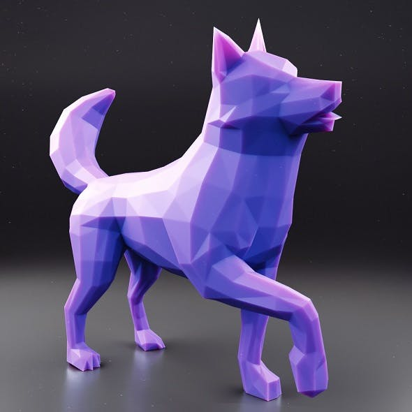 Husky Low Poly 2 - 3DOcean Item for Sale