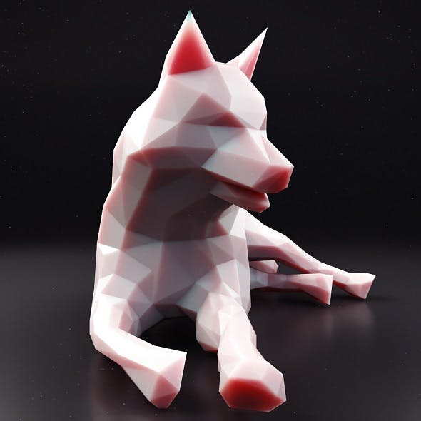 Husky Low Poly 3 - 3DOcean Item for Sale