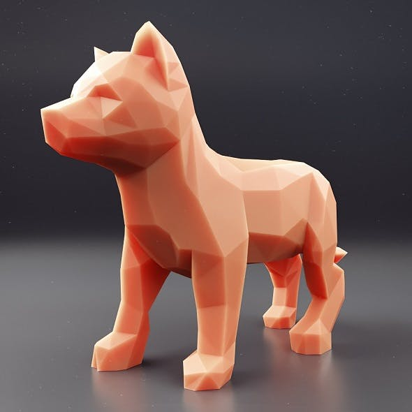 Husky Puppy Low Poly 2 - 3DOcean Item for Sale